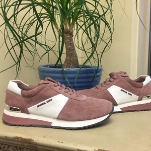MICHAEL KORS ALLIE TRAINERS IN DUSTY ROSE